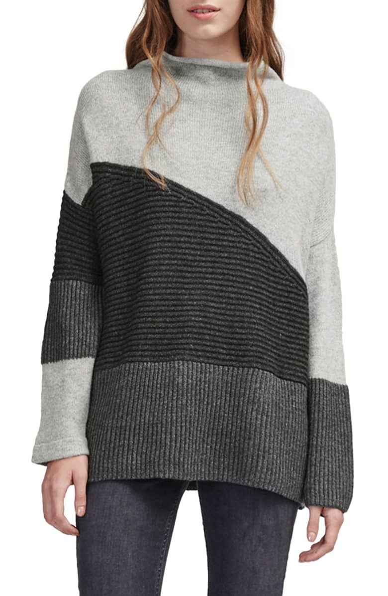 French Connection Womens Patchwork Multi Color Sweater