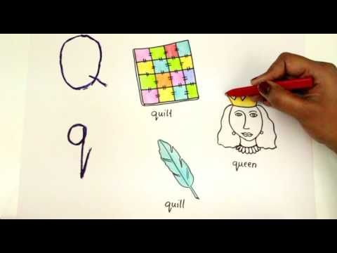 Coloring Letter Q Q How To Draw Alphabets Baby Tube Fun Kids Learning Page Youtube Coloring Letters Kids Learning Coloring For Kids