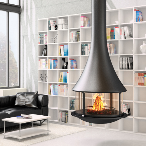 JCBordelet Zelia 908 Suspended Woodburning Stove Now Available