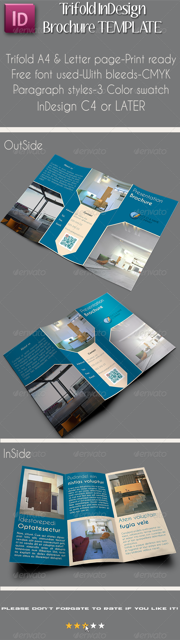 a4 letter trifold brochure template vol 1 graphicriver. Black Bedroom Furniture Sets. Home Design Ideas