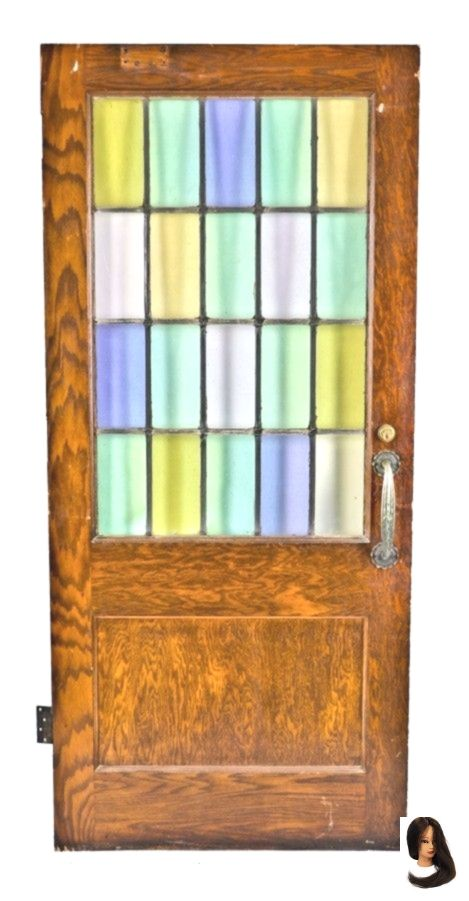 Original and exceptionally intact c. 1929 park view lutheran church interior oak wood library office door with english muffle cathedral roll art glass Original and exceptionally intact c. 1929 park view lutheran church interior oak wood library office door with english muffle cathedral roll art glass        original and exceptionally intact c. 1929 park view lutheran church interior oak wood library office door with english muffle cathedral roll art glass