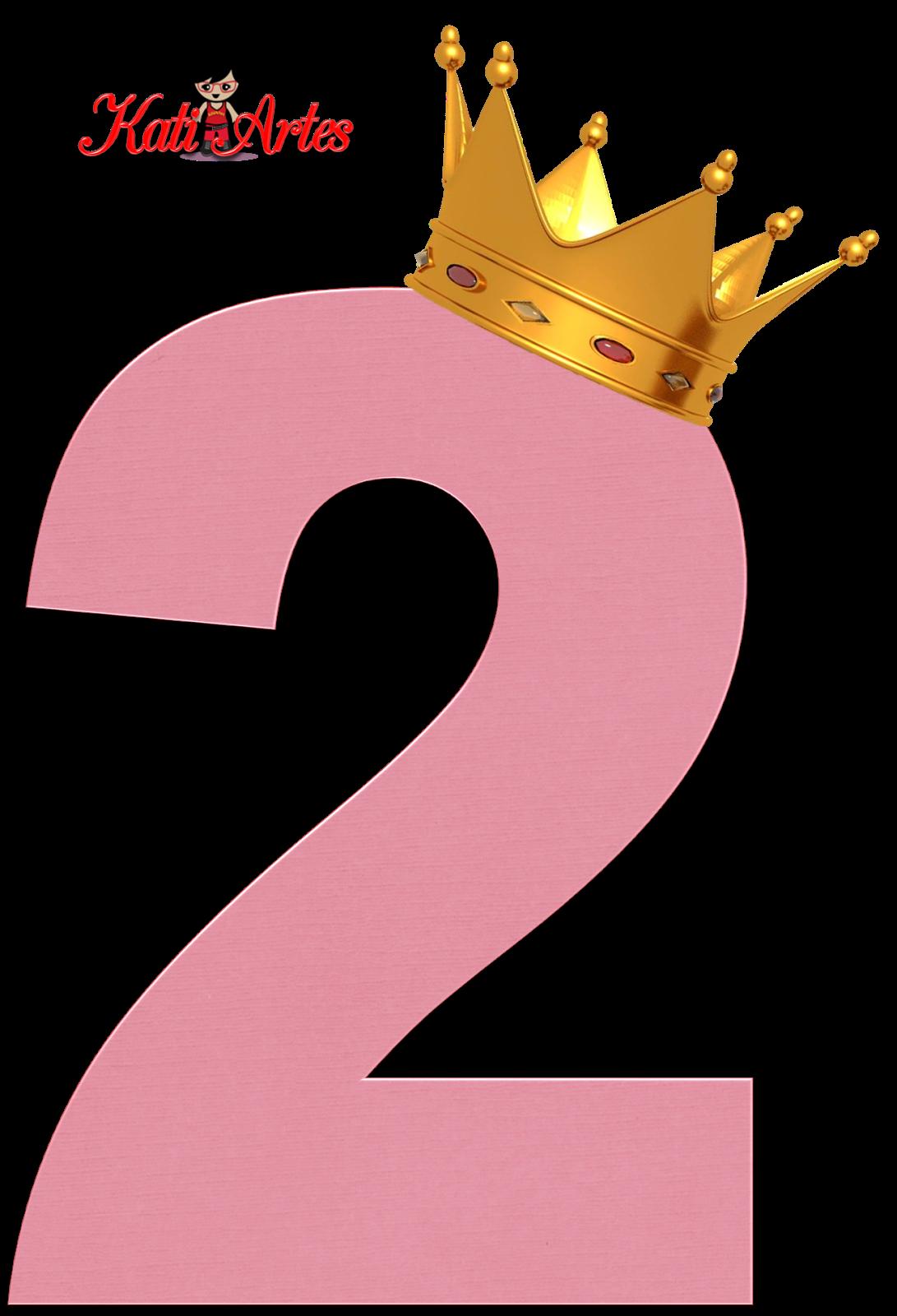 Alfabeto de Números Rosas con Coronas. | party | Pinterest ...