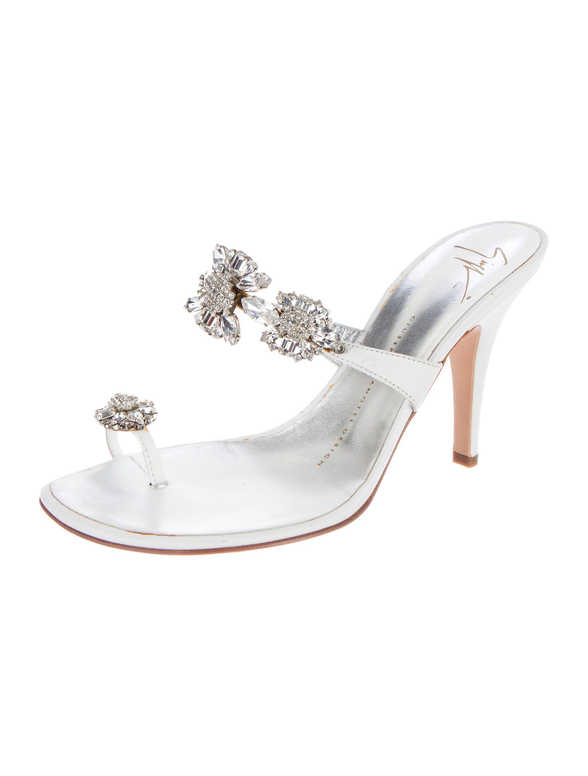 0d9faede2a Giuseppe Zanotti Embellished Slide Sandals - Shoes - GIU33012   The RealReal
