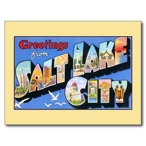 Vintage greetings from Salt Lake City Postcards, greeting cards, fridge magnets