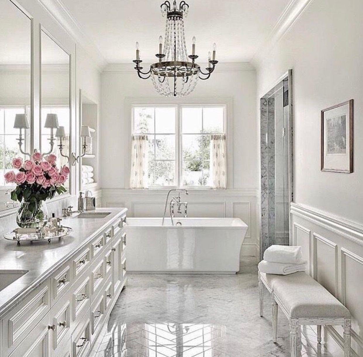 chic white bathroom dream bathrooms bathrooms remodel on bathroom renovation ideas white id=78147