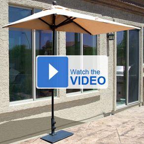 7 5 ft sunbrella half wall commercial umbrella only 279 00 free