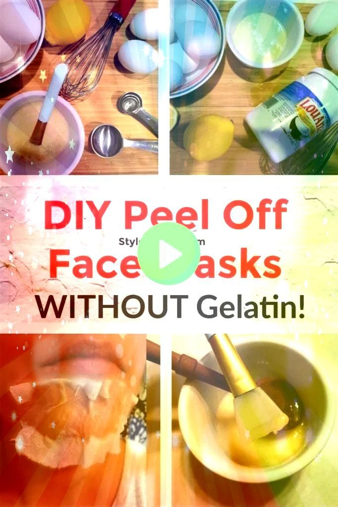 Peel Off Facial Mask Without Gelatin  Baby Worl DIY Peel Off Facial Mask Without Gelatin  Baby Worl  5 Weekend Projects To Upgrade Your Home mask for removing dead and dr...