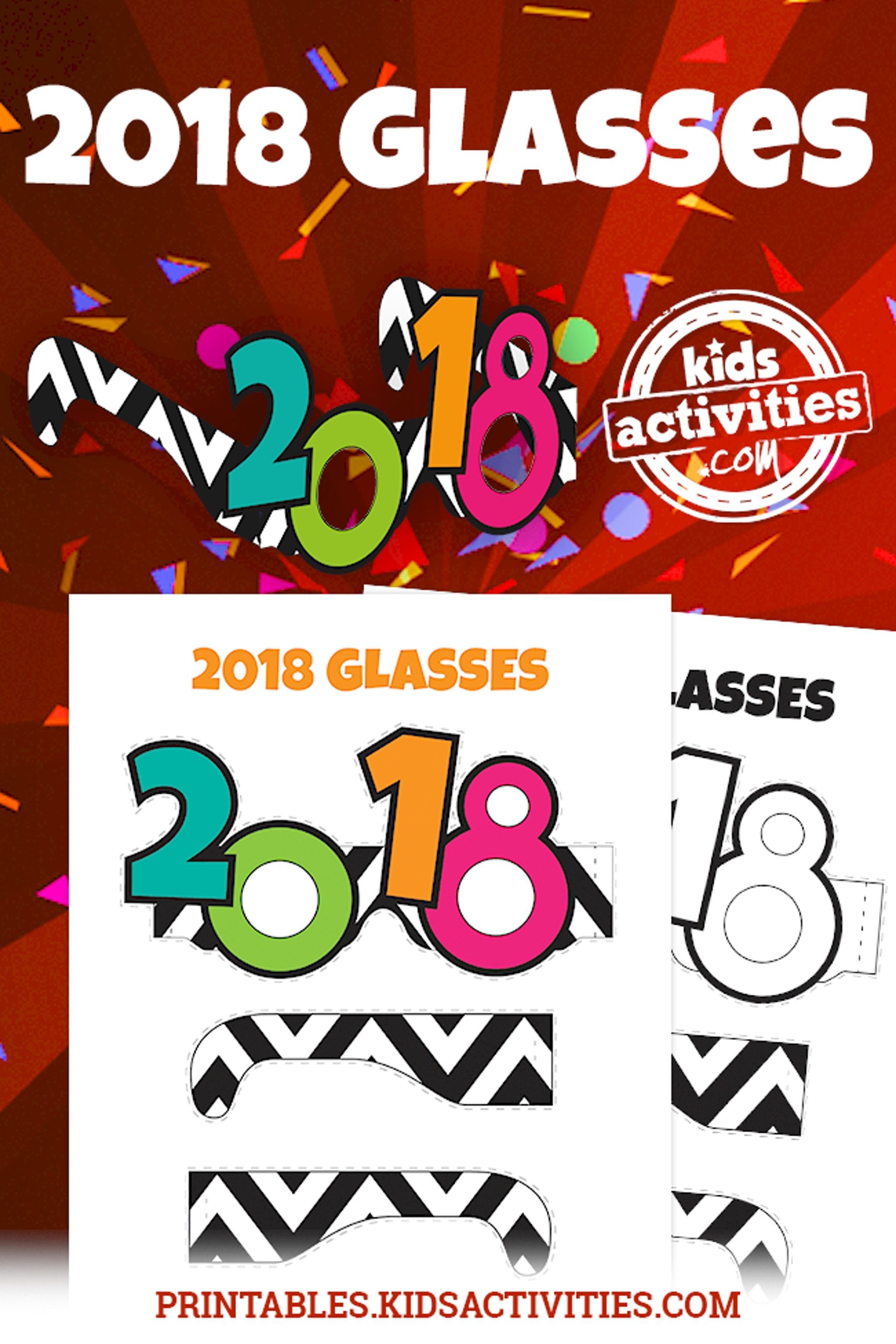 Printable 2018 Glasses Craft for Kids - Kids Activities | Kids ...