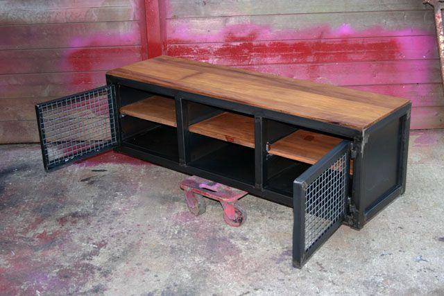 Creation Meuble Fabrication Sur Mesure Meuble Bois Metal Industriel Tendance Mobilier De Salon Meuble Bois