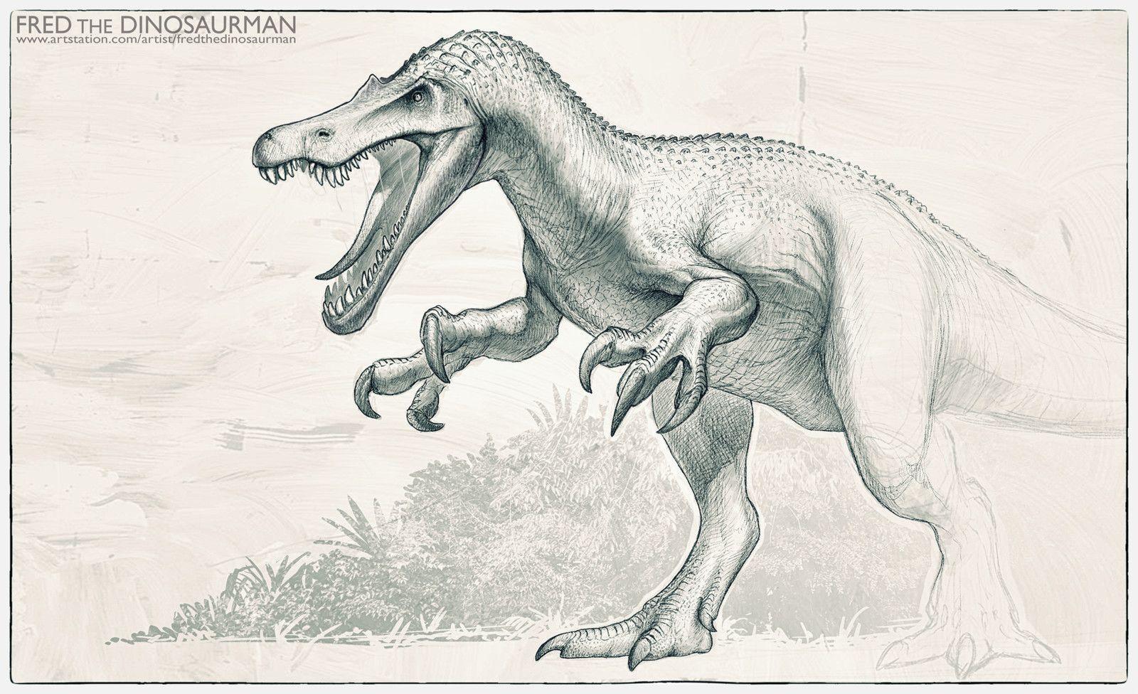 Baryonyx Jp Stylized Fred Wierum On Artstation At Https Www Artstation Com Artwork Zqyg0 Dinosaur Pictures Dinosaur Art Jurassic World Dinosaurs