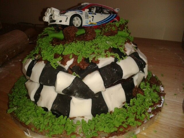 My husbands rally car birthday cake Recipes Pinterest