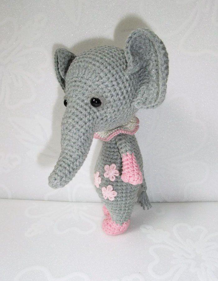 Atractivo Ganchillo Libre Patrón Del Elefante Molde - Manta de Tejer ...