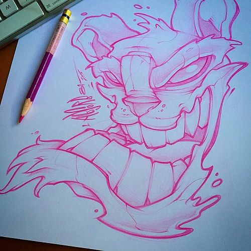 Lunchtime Scribble Art New Tattoo Prismacolor Pencil