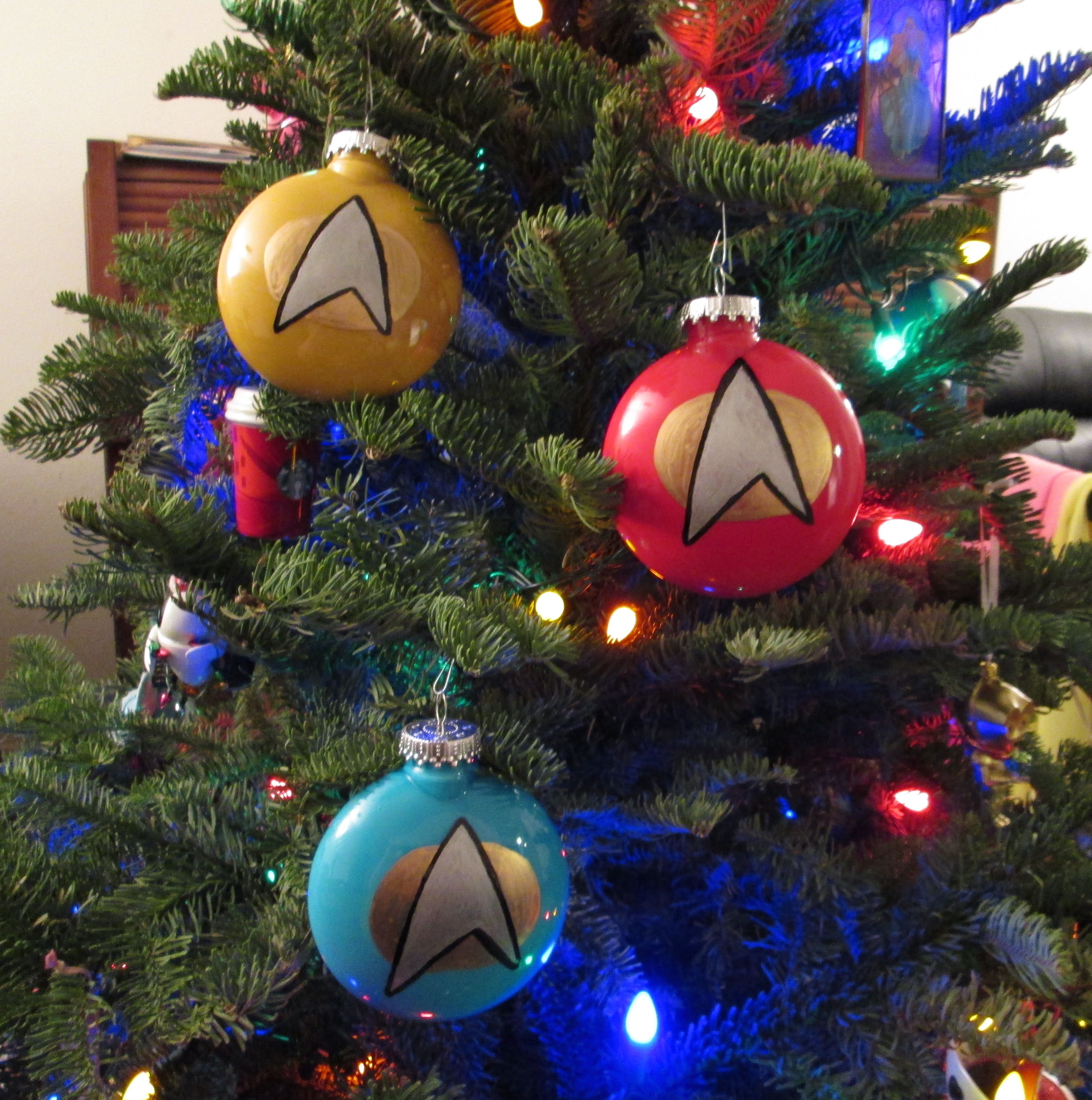 Diy christmas decorations and gifts - Diy December Star Trek The Next Generation Ornaments