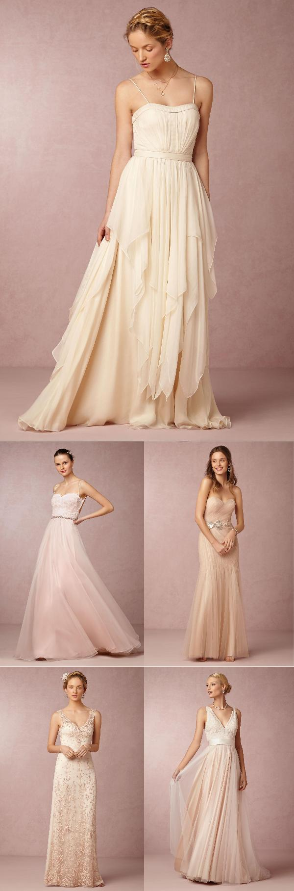 5 Enchanting Wedding Dresses in Shades of Pink | Boda de ensueño ...