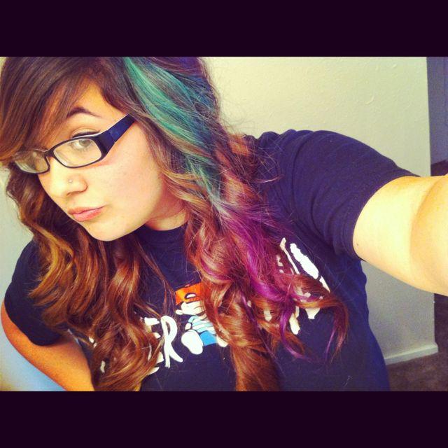 Aqua hair!