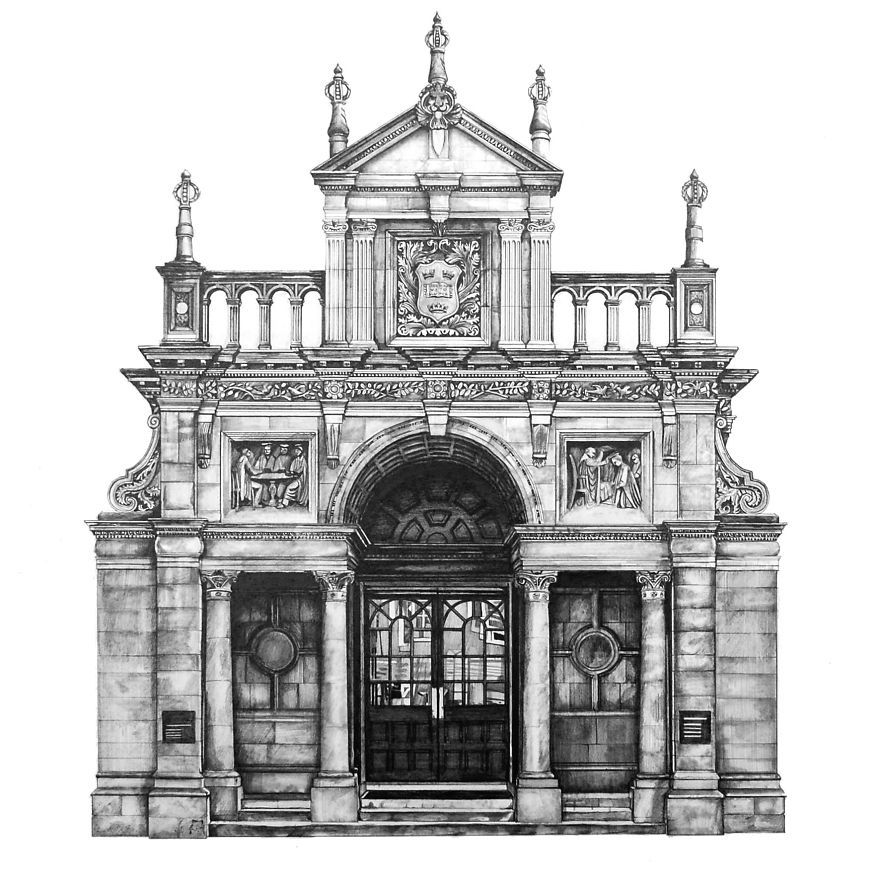 architectural buildings drawings. Unique Buildings Design Is In The Details My Photorealistic Drawings Of Famous European  Buildings  Bored Panda For Architectural H