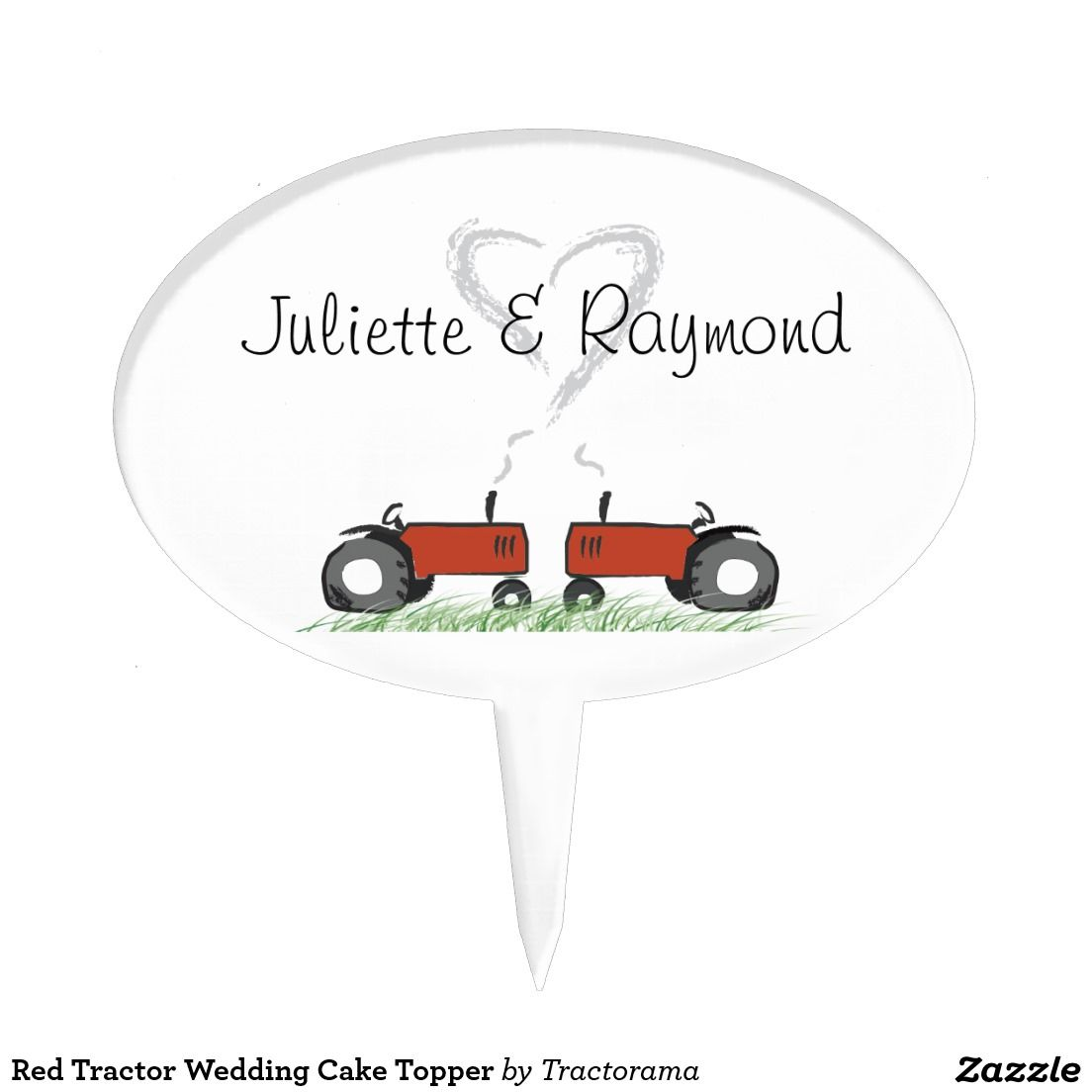 Red tractor wedding cake topper tractors cakes and cake toppers