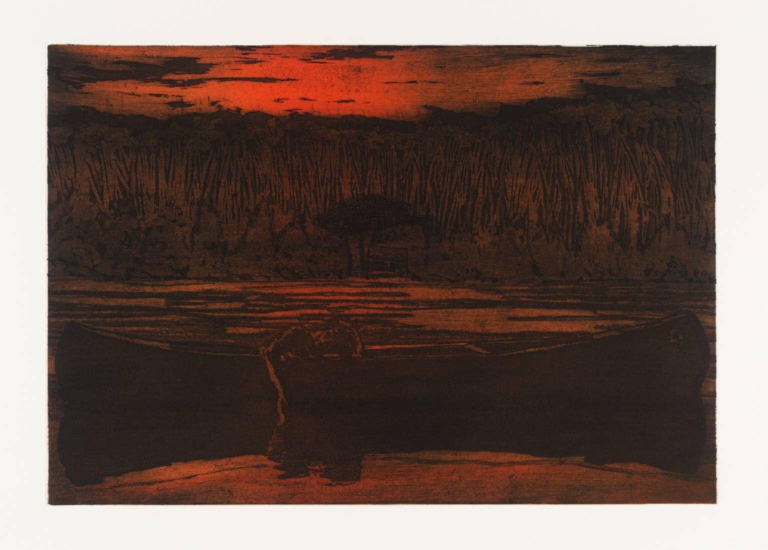 Canoe Lake by Peter Doig