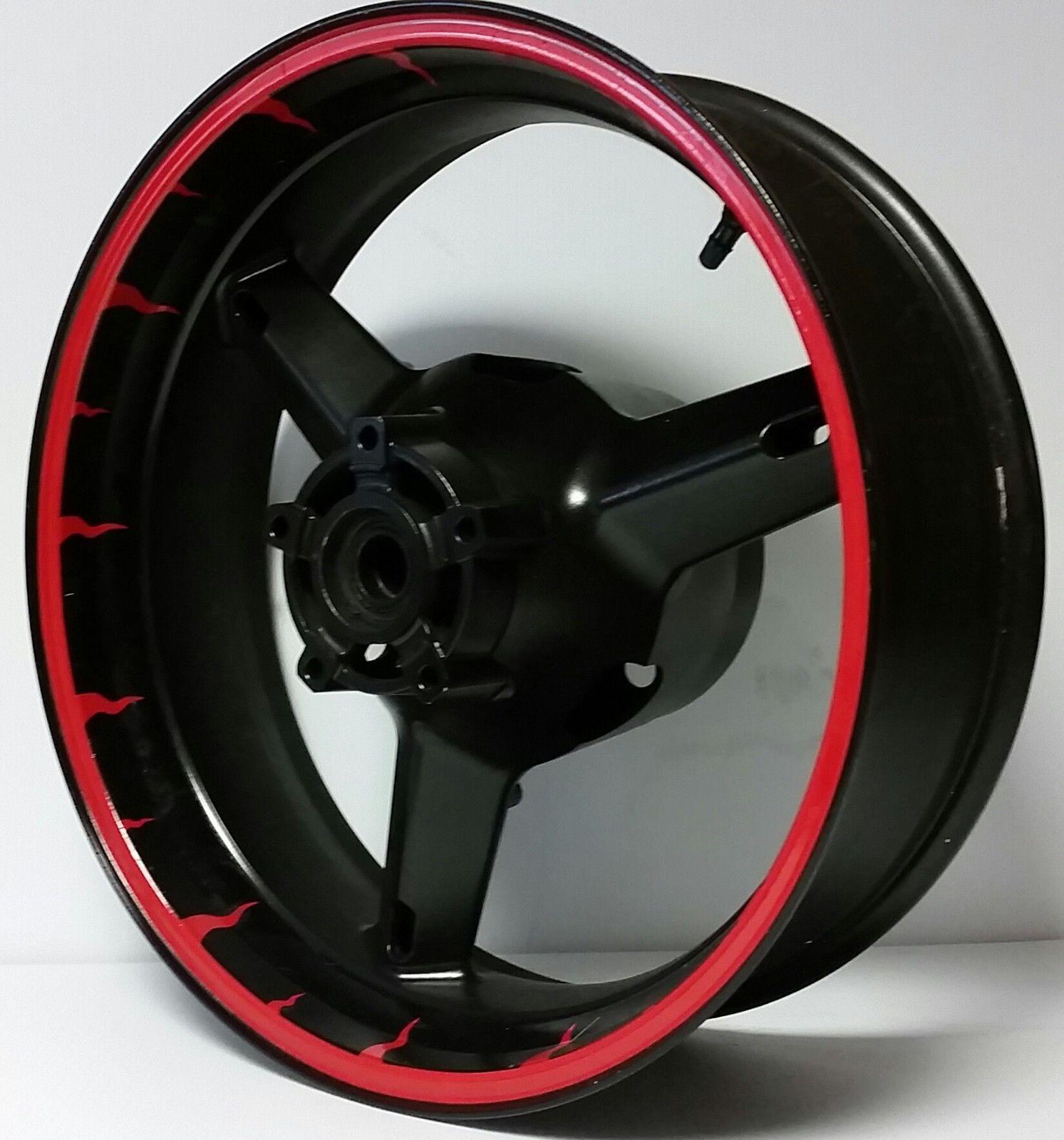 Custom rim stripes wheel decals stickers tape honda cbr 1000rr f2 f3 f4i 600 cb