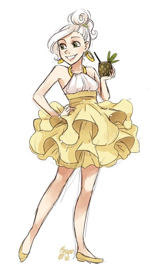 Nice Dress Lol Illustration Girl Character Design Art