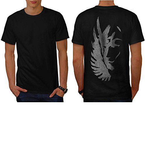 Scary Vampire Face Eagle Flight Men NEW L Tshirt Back  Wellcoda *** To view further for this item, visit the image link.