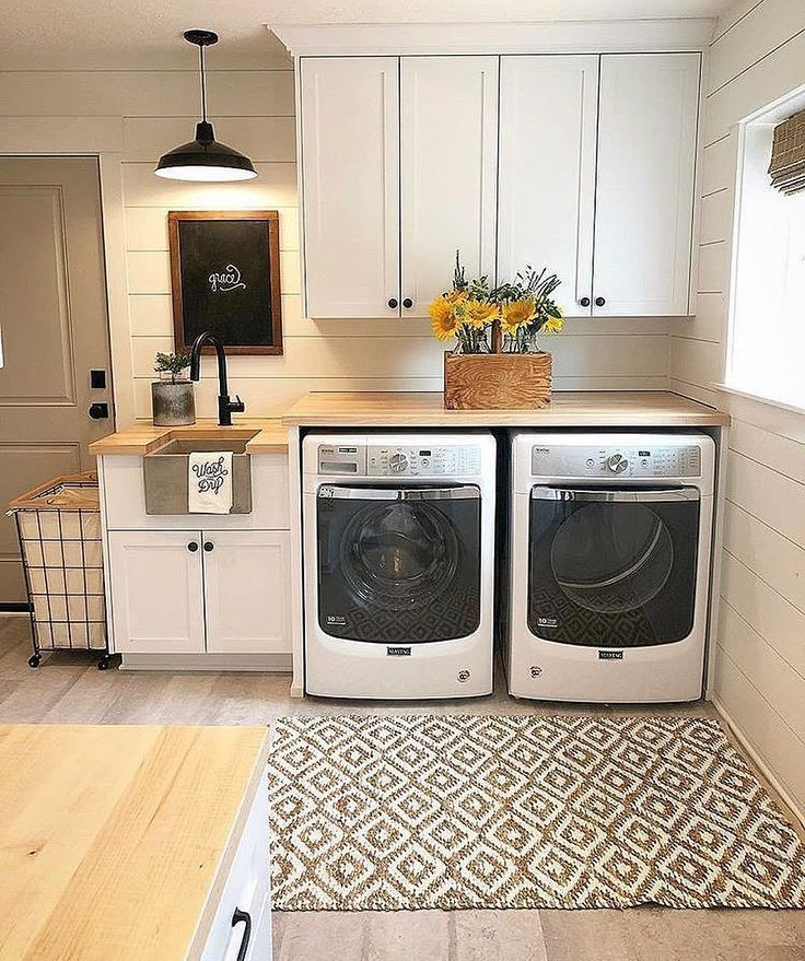20+ Farmhouse Laundry Room Ideen mit gut organisiertem Setup