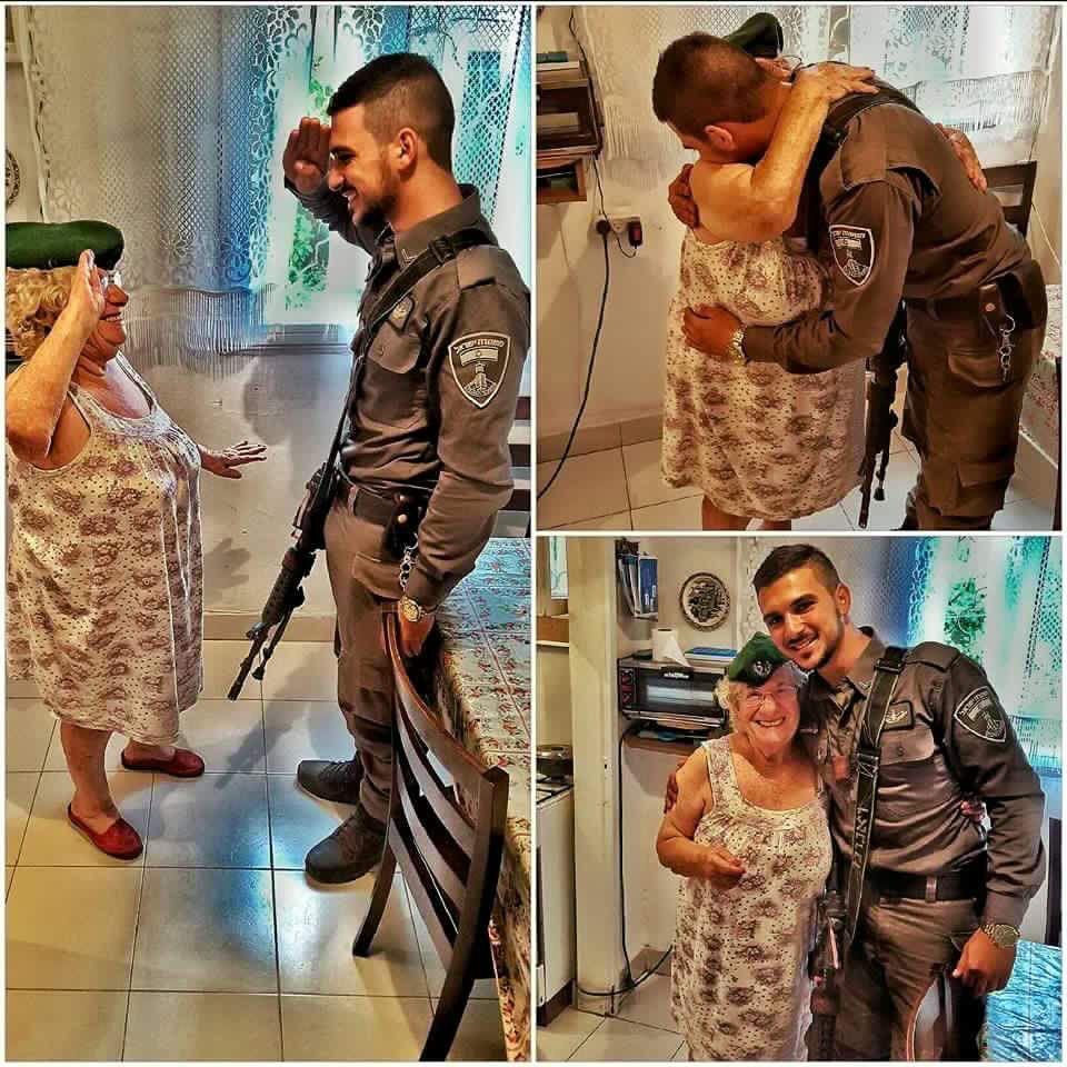 Israeli police visit Holocaust survivors...