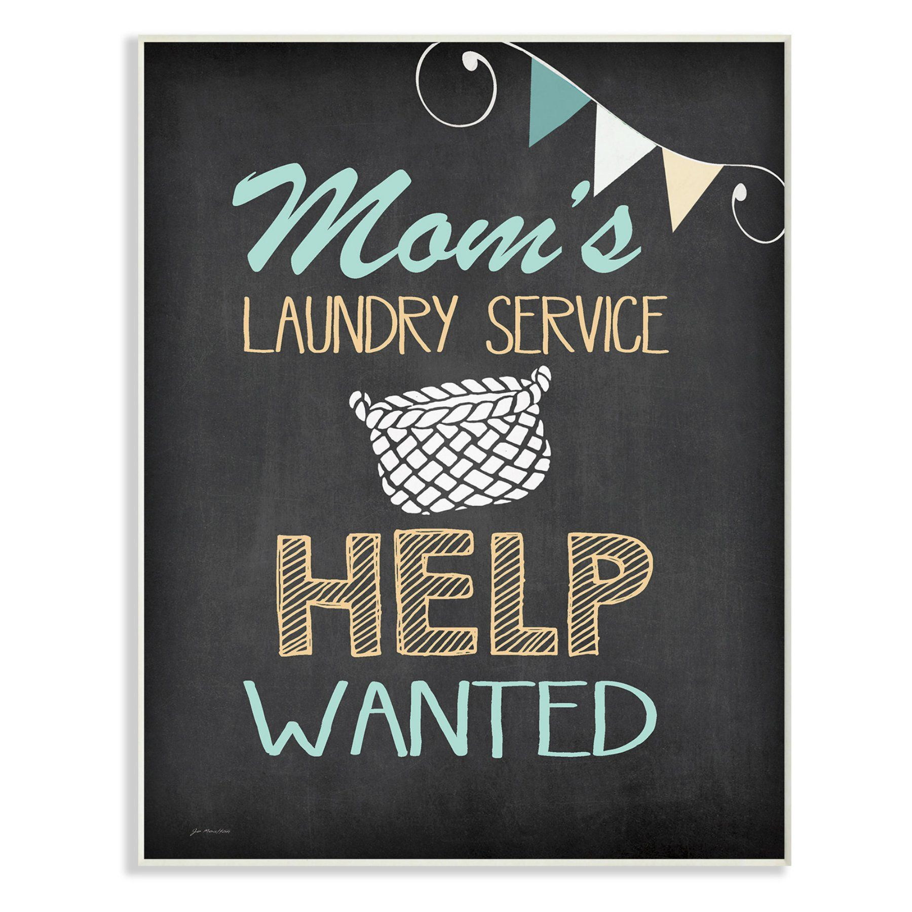 Laundry Wall Plaque Magnificent Stupell Decor Moms Laundry Service Help Wanted Wall Plaque  Wrp Decorating Inspiration