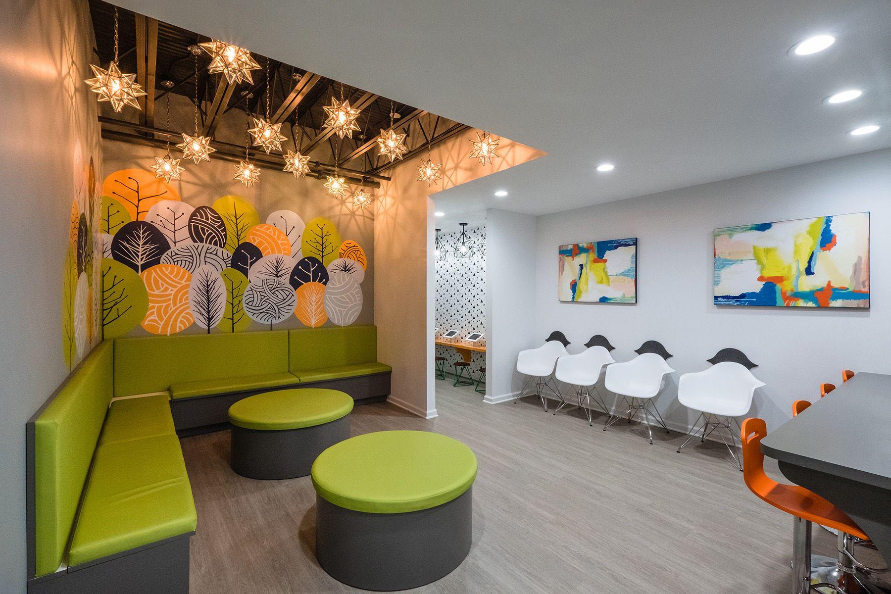 Columbia Pediatric Dentistry Reception Area Design Pediatric