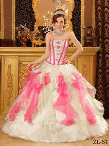 50f163c91bd Multi-colored Sweet Sixteen Quinceanera Dresses with Appliques in Organza
