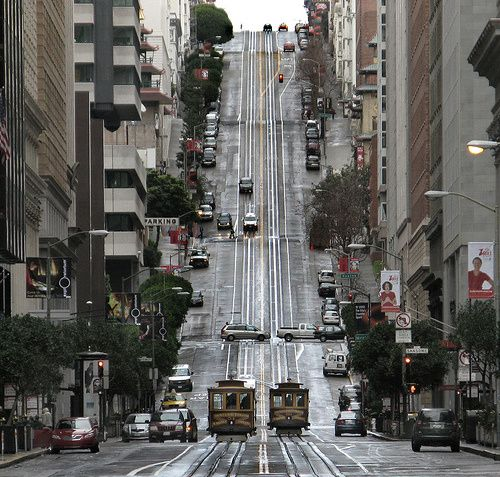 Steep hills of San Francicsco