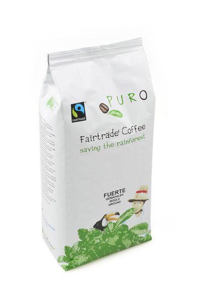 Puro Fairtrade Fuerte Espresso Beans (50% Arabica ...