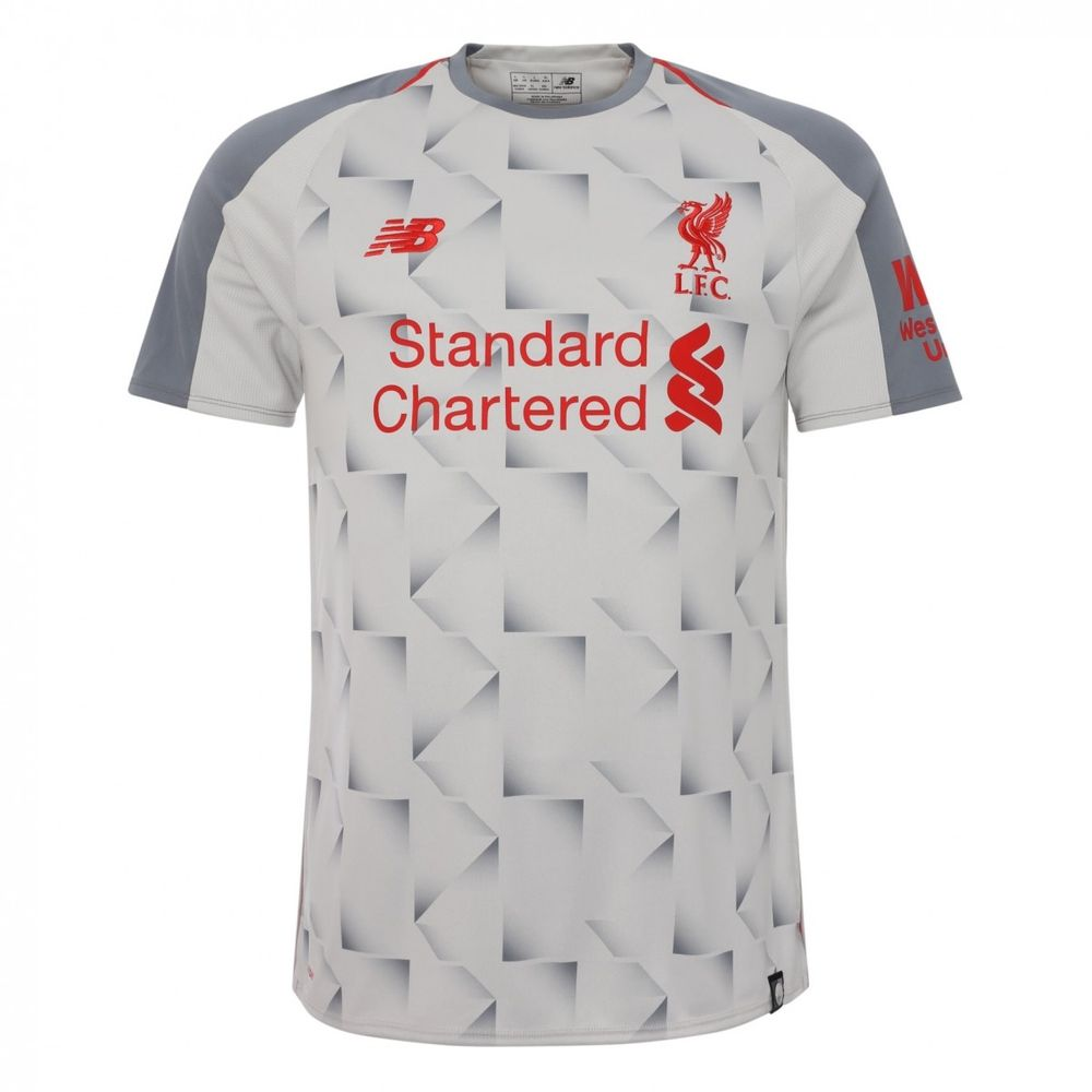 Liverpool FC 2018 2019 Third Kit Soccer Men s Football Jersey New Balance  Gray  44adf6e58