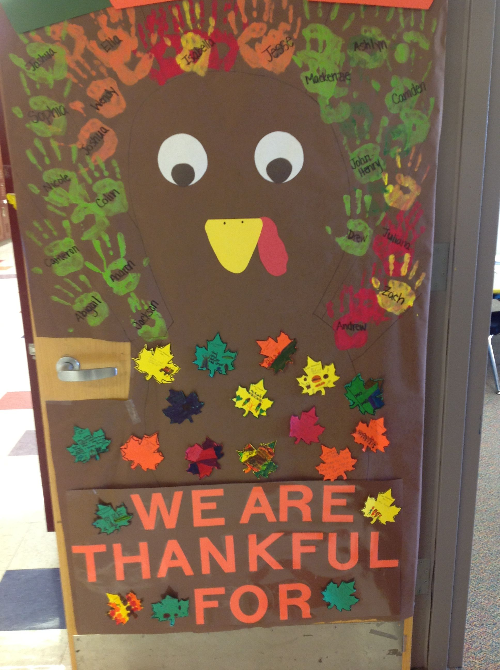 Ask them to write what they're thankful for
