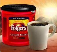 Free sample of Folgers coffee