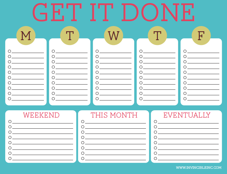 Free Editable Get It Done To-Do List Printable | Organization ...