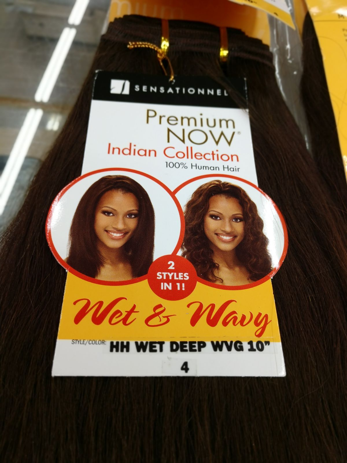 2 Packs Of Sensationnel Premium Now 100 Human Hair Weaving Hair Indian Collection Wet Wavy Length 10 Style Deep Wave Colo 100 Human Hair Human Hair Human