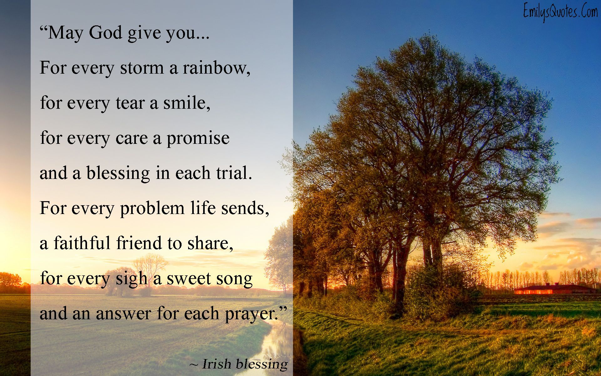 May God Give You… For Every Storm A Rainbow, For Every