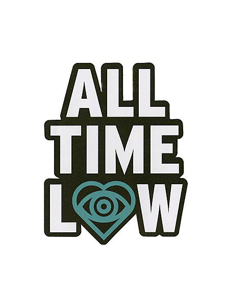 All time low eye heart sticker hot topic