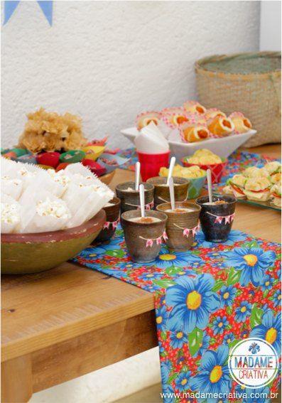 Decoraç u00e3o de Festa Junina caseira Junino chic e receitas deliciosas festas e recepç u00e3o  -> Decoração De Festa Junina Com Materiais Reciclados