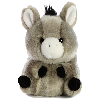 f0f206e6781 5 Inch Bray Donkey Rolly Pet Plush Stuffed Animal by Aurora –  AllThingsToyStore