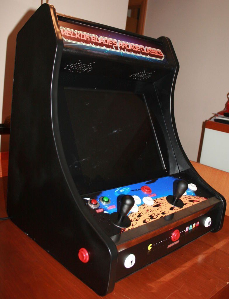 Raspberry Pi Game Cabinet 2 Player Bartop Arcade Machine Powered By Pi It Is Plays And