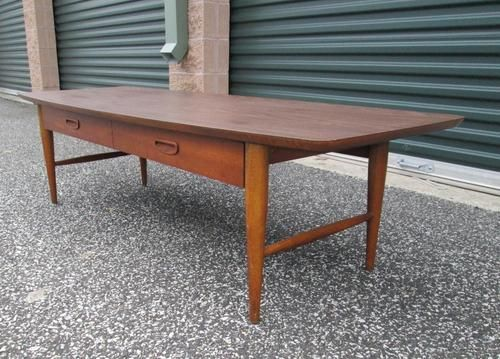 vintage lane long low coffee table
