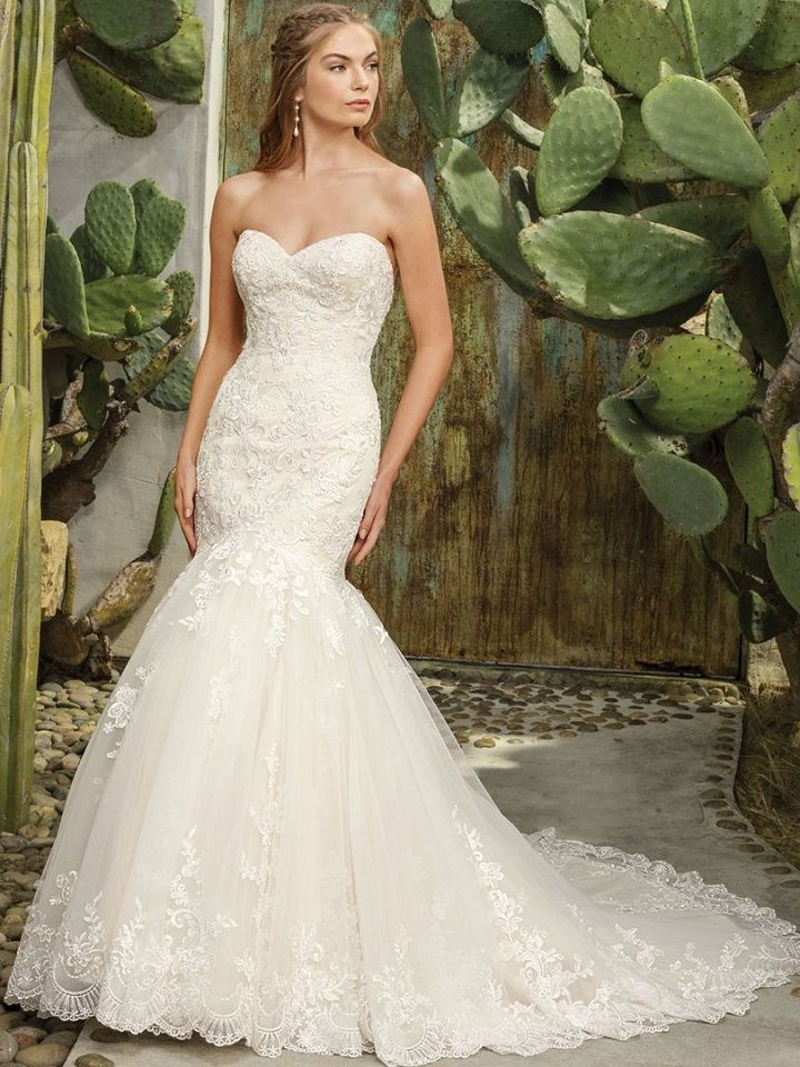 Strapless mermaid wedding dress - Casablanca wedding dress,Wedding Dress Inspiration | fabmood.com #weddingdress #weddinggown #bridalgown #bridaldress