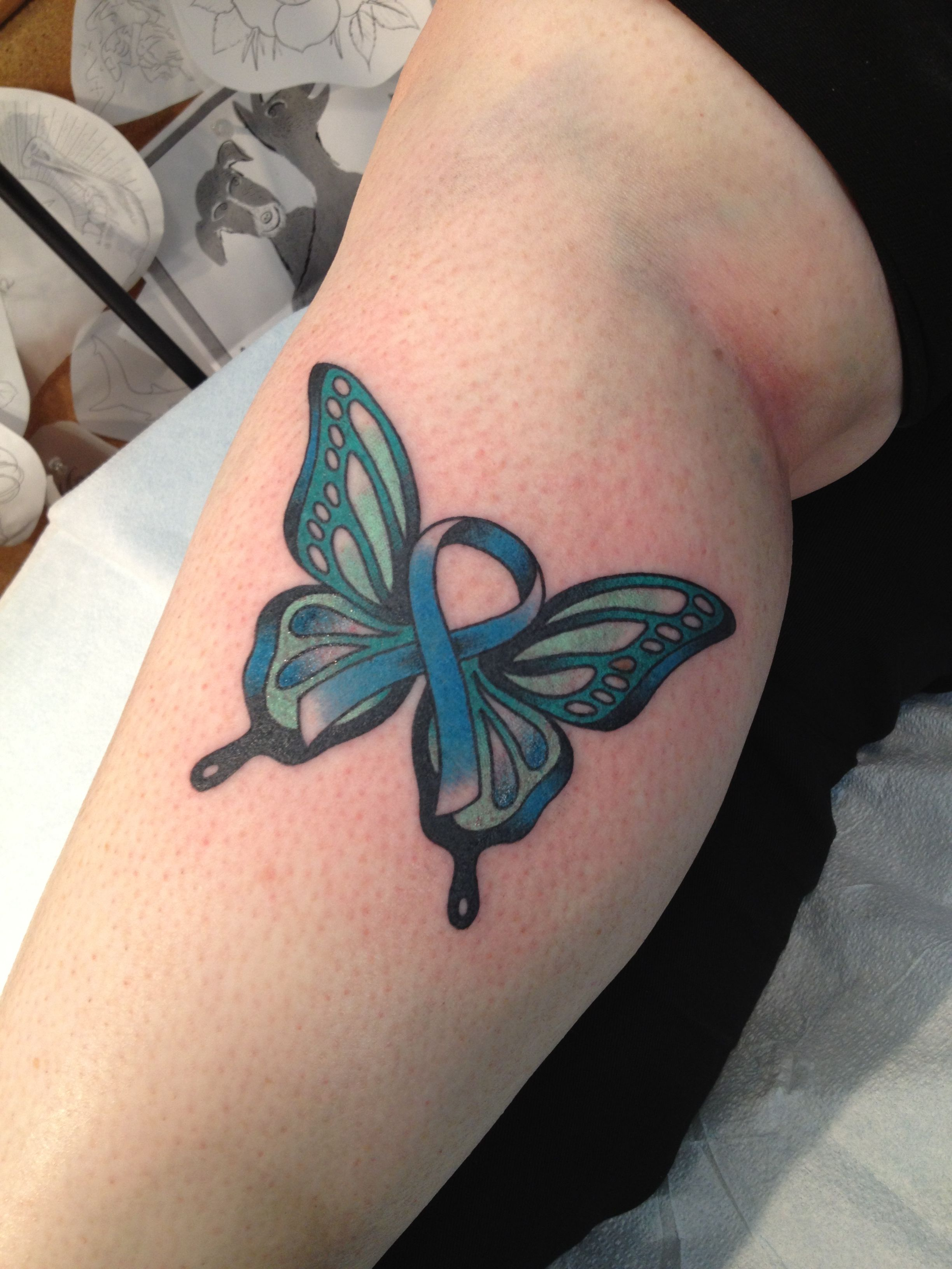 tattoo to celebrate 2 1 2 years of being in remission from ovarian cancer sept ovarian cancer. Black Bedroom Furniture Sets. Home Design Ideas