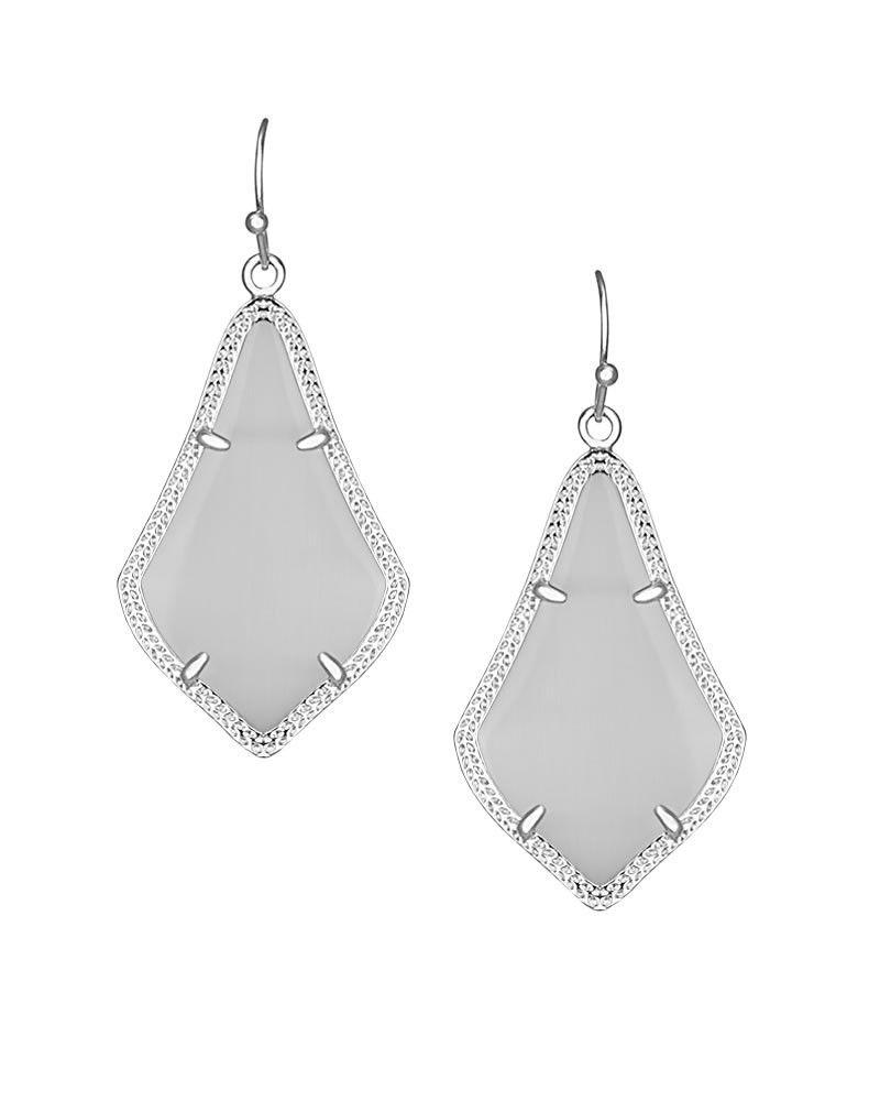 Alex Silver Earrings in Slate - Kendra Scott Jewelry.