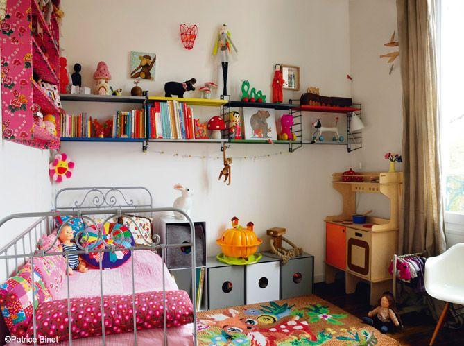 Chambre de petite fille multicolore | Repérages Dannie | Pinterest ...