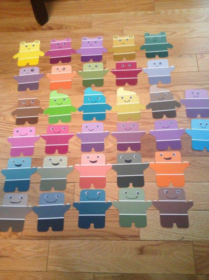 Kunterbunte Einladungskarten Für Den Kindergeburtstag! Past Für Jede  Mottoparty Von Planet Box.de Einfach Mit Farbmuster Karten Vom Baumarkt  Basteln.