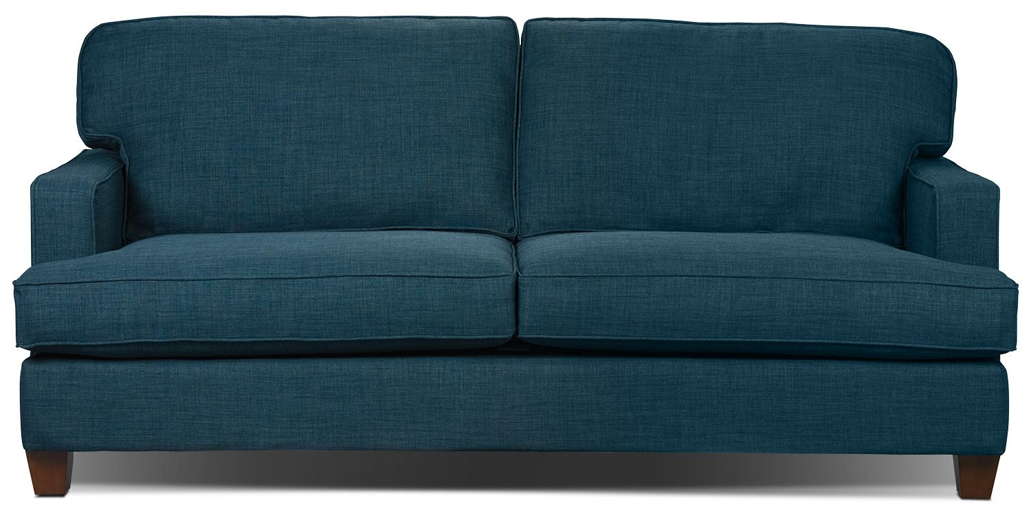 Sofa The Brick Endearing Kent Linenlook Fabric Sofa  Blue  The Brick  Apartment . Review